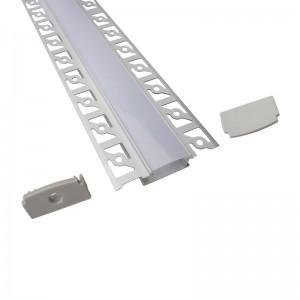 Recessed aluminium led profile for strips