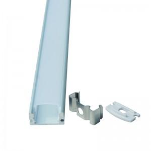 Factory source China Aluminum Extrusion 6063 Profile for LED Strip Light U-Profile